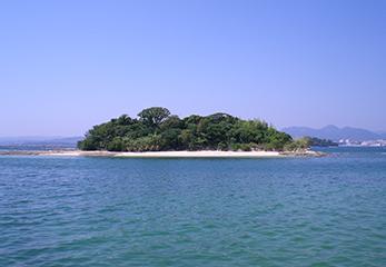 小鞠山(こまりやま)島全景