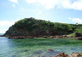ウ離島と海岸