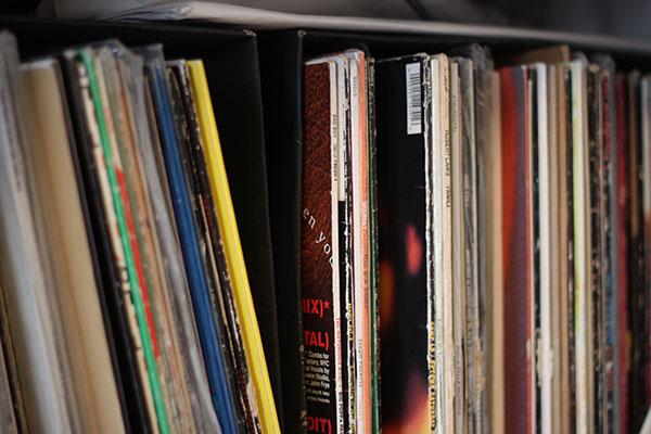 レコードコレクションの1部