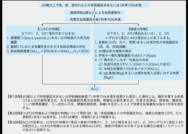 喘息とCOPDの合併病態ACOの診療指針示す