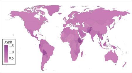 世界の甲状腺がん罹患率は増加傾向